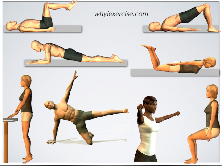 Easy At Home Exercises Illustrations And Videos No Equipment Needed