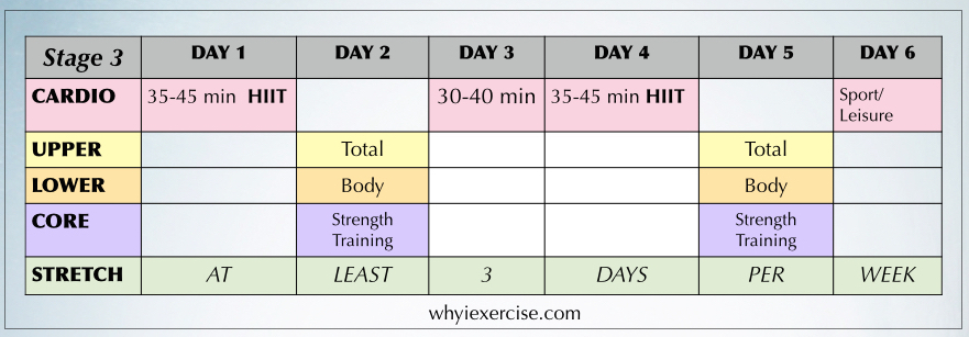 Free exercise program: workout calendar plus a guide to ...